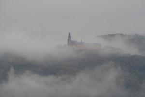 Kloster Banz im Morgennebel